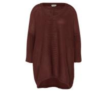 Oversized Pullover 'NMVera' schwarz / weiß