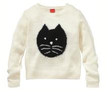 Pullover mit Motiv für Mädchen weiß