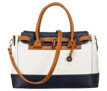 'Nathalie' Handtasche blau / braun / weiß