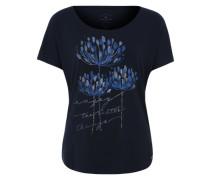 T-Shirt mit Effekt-Print blau