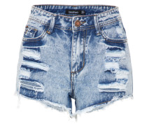 Shorts im Destroyed-Look blue denim