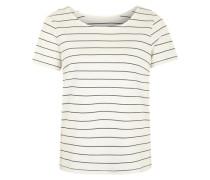 Shirt 'Vitinny' mit einem kurzen Rückenreißverschluss blau / offwhite