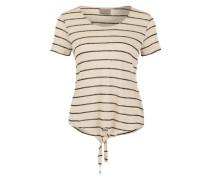 Feinstrickshirt 'Vmreza' beige / schwarz