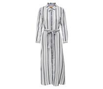 Kleid weiß / blaumeliert