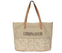 Shopper Tasche Leder 40 cm beige