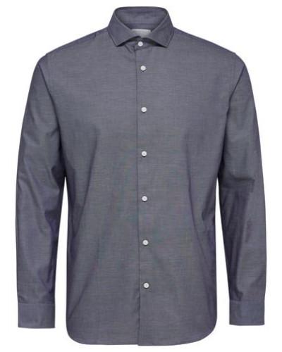 Regular-Fit-Hemd taubenblau
