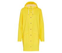 Long-Mantel mit Kapuze gelb