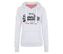 Sweatshirt mit Pailletten grau