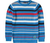 Pullover für Jungen himmelblau / grau / rot / weiß