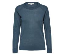 Wollmix-Strickpullover blau