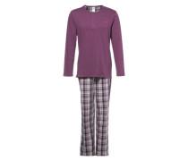 Pyjama beere / schwarz / weiß