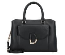 Von Handtasche Leder 32 cm schwarz