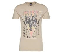 Shirt 'RN Kiss Tee' beige