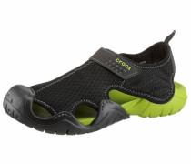 -Sandale hellgrün / schwarz