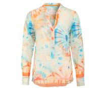 Tunika im Batik-Look blau / mischfarben / orange