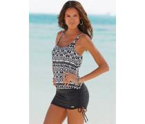 Badeanzug-Kleid schwarz / weiß
