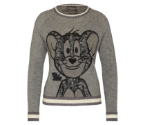 Pullover mit Kaschmir 'Jerry Smile' grau