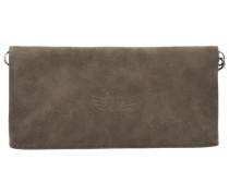 Ronja Wing Vintage Clutch Tasche 29 cm braun