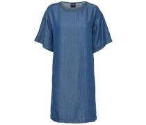 Viskose–Kleid blau