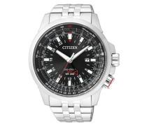 """Armbanduhr """"bj7070-57E"""" schwarz / silber"""