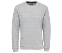 Detail-Pullover grau
