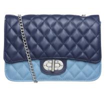 Handtasche 'Miss' mit Ziernähten navy / hellblau