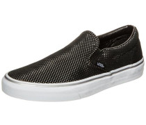 Classic Slip-On Metallic Dots Sneaker Damen schwarz