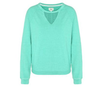 'Louisa' Sweatshirt mit Spitzeneinsätzen jade