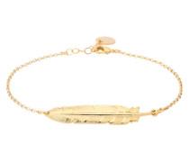 Armband mit Federanhänger gold