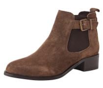 Chelsea Boots in Veloursleder 'Shallow' braun