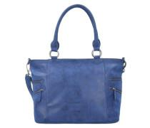 'Carlota Vintage' Schultertasche 35 cm blau