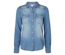 Langarmhemd Denim blau