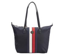 Shopper 'Poppy Corp Stripe' navy / rot / weiß