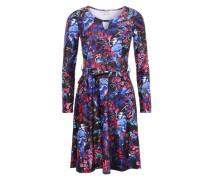 Jerseykleid mit All Over-Print mischfarben