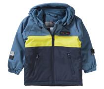 Baby Winterjacke Jaxon für Jungen navy / rauchblau / gelb