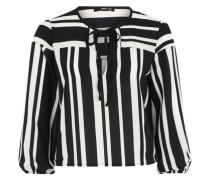 Blusenshirt 'Stella' schwarz / weiß
