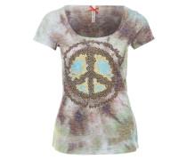 T-Shirt mit Schmucksteinbesatz mischfarben