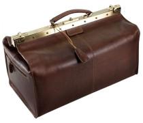 Toscana Bügelreisetasche Leder 52 cm kastanienbraun
