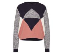Pullover Strukturstrick blau / mischfarben / rosa