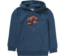 Sweatshirt 'enter' mit Kapuze blau