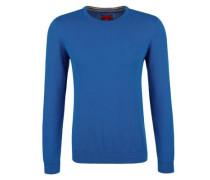 Pullover aus Feinstrick blau