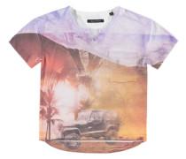 Kurzarm T-Shirt mit Jeep-Print mischfarben