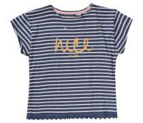 T-Shirt für Mädchen dunkelblau / orange / rosa / weiß