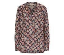 Bunte Bluse mit grafischem Druck mischfarben
