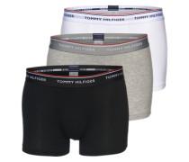 Boxershorts 'Trunk' (3er Pack) grau / schwarz / weiß