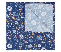 Taschentuch blau / dunkelorange / weiß