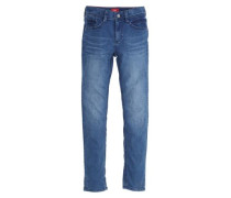 Skinny Seattle: Warme Stretchjeans blue denim
