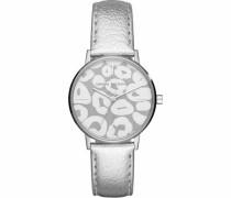 Quarzuhr 'ax5539' grau / silber / weiß
