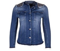 Jeansjacke 'pearly Destroyed' blue denim