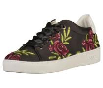 Sneaker grün / rot / schwarz